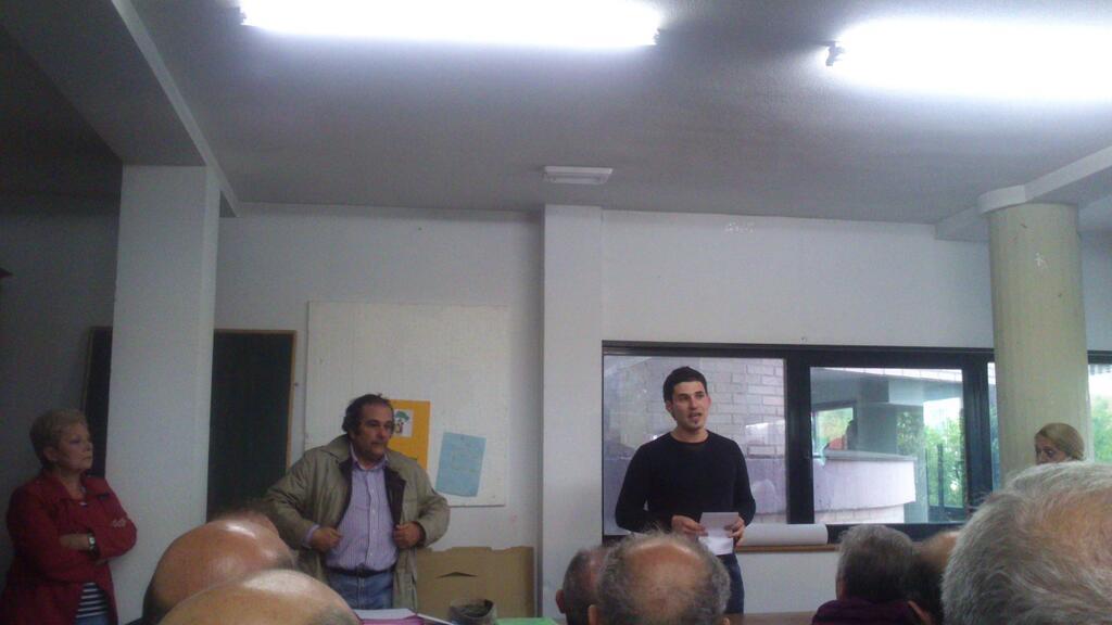 El Concejal de IU, Raúl Salinero durante su intervención en la Asamblea.