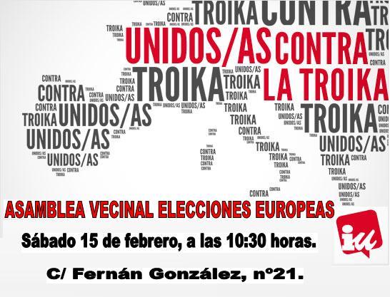 Photo of Asamblea abierta Elecciones Europeas. Sábado 15 de febrero