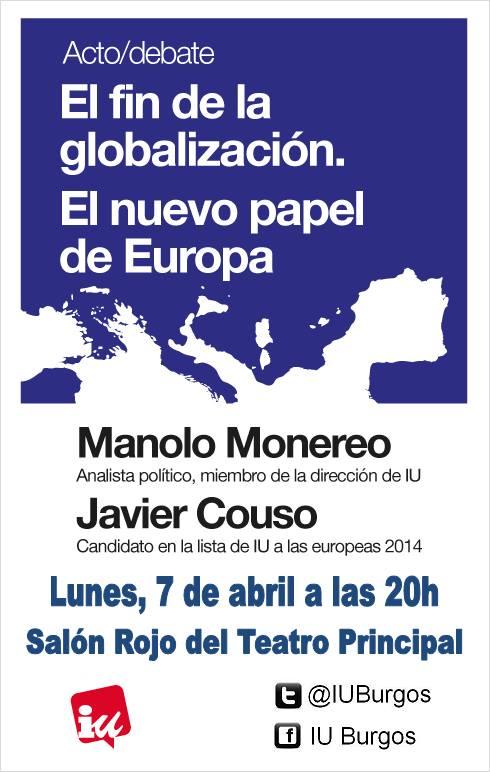 Photo of Javier Couso «EL FIN DE LA GLOBALIZACIÓN. EL NUEVO PAPEL DE EUROPA. «