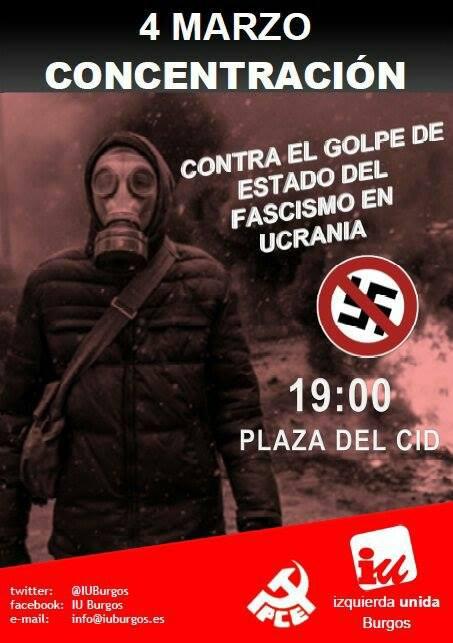 Photo of Concentración contra el fascismo en Ucrania. Martes, 4 de marzo.