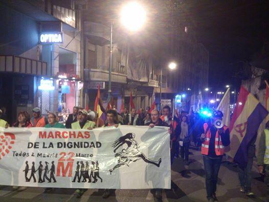 Photo of La Columna Norte llega a Aranda de Duero. Marchas de la dignidad.