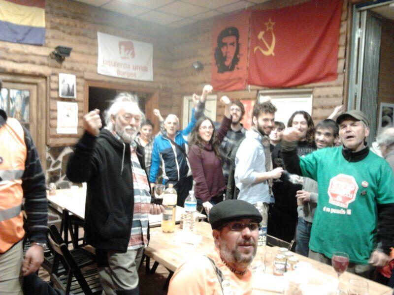 Photo of IU Burgos da la bienvenida a la Columna Norte de las Marchas por la Dignidad.