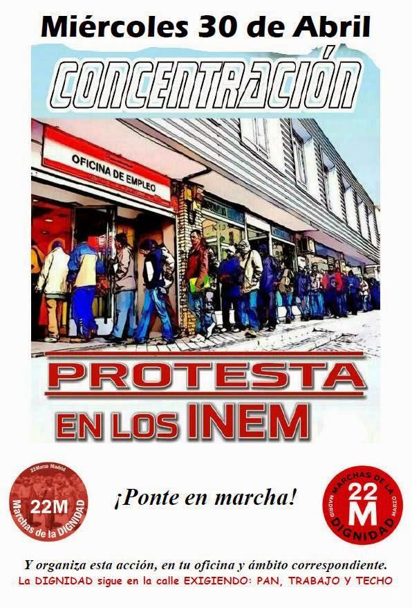 Photo of 30 de abril : Concentración-protesta en los INEM