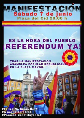 Photo of Manifestación 7 junio. Es la hora del pueblo ¡Referendum ya!.