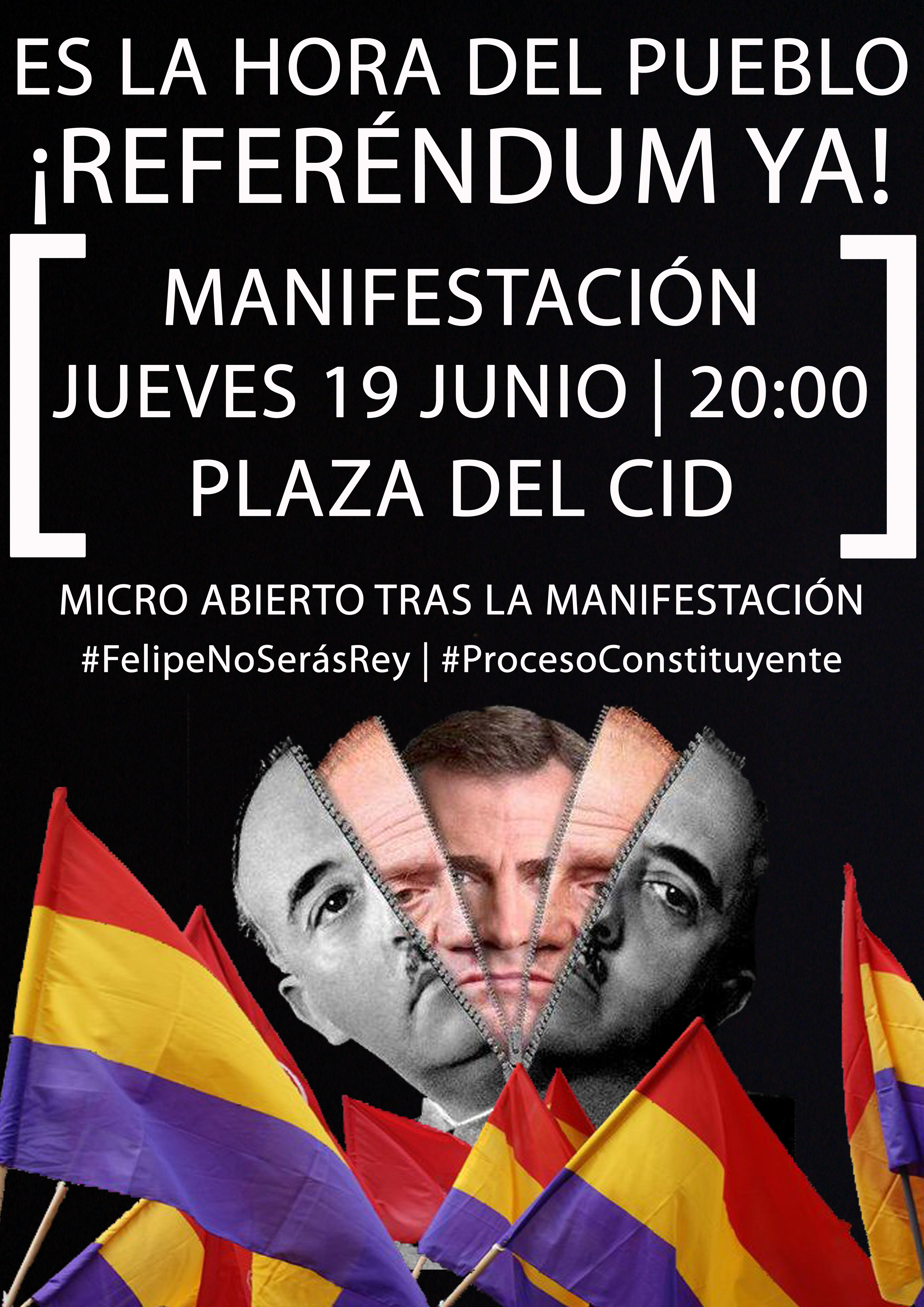 Cartel Mani Republicana Burgos