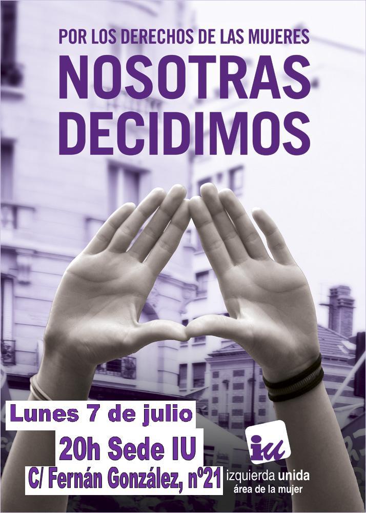 Photo of Plenario Área de Mujer IU el próximo lunes 7.