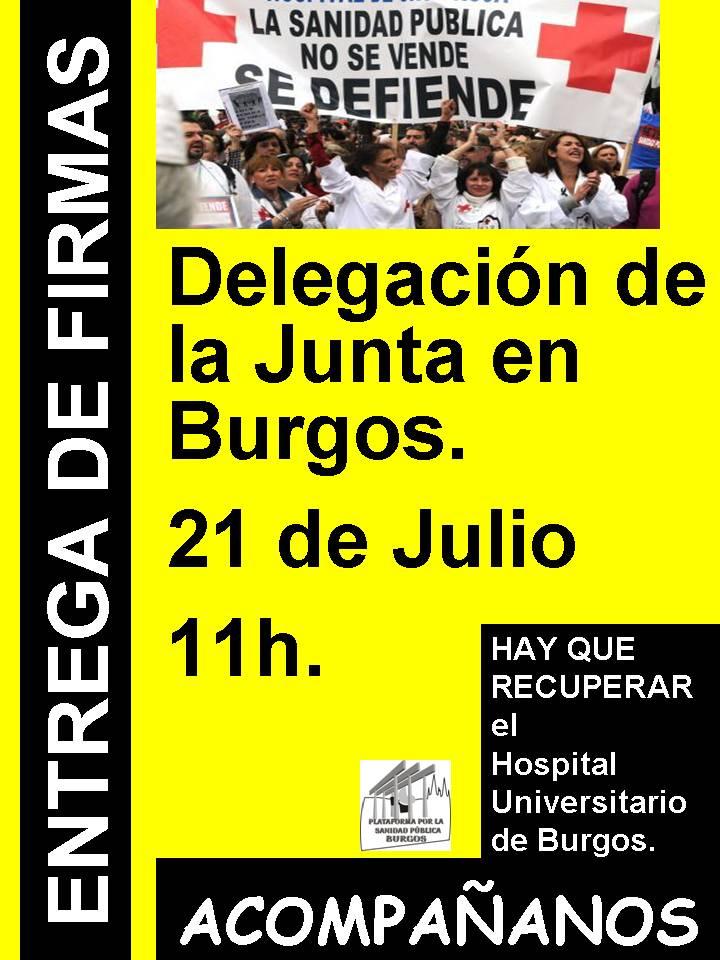 Photo of El 21 de julio la Plataforma por la Sanidad Pública de Burgos entregará las firmas recogidas