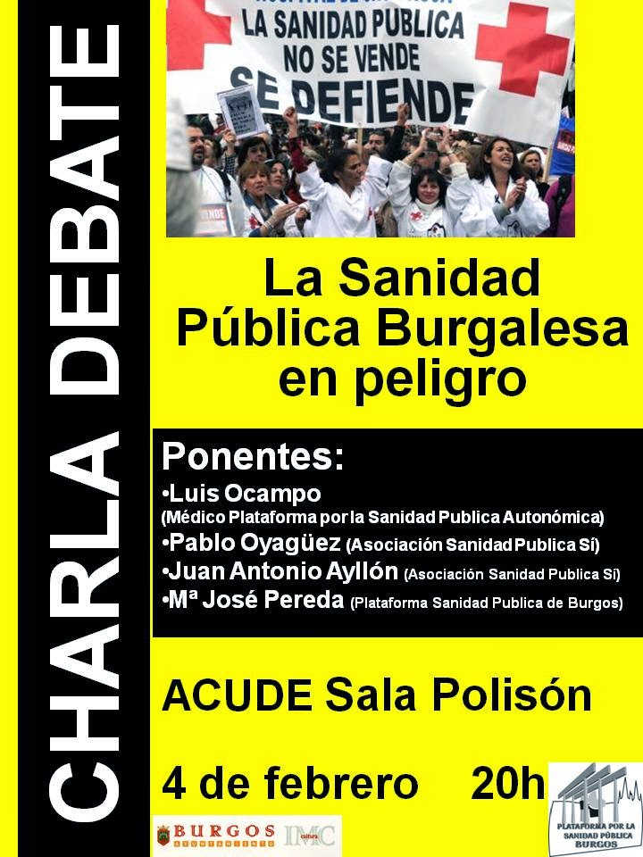 Photo of 4 de febrero. Debate: «La sanidad pública burgalesa en peligro»