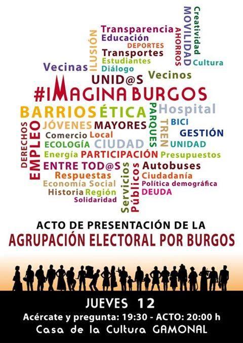 Photo of Acto de presentación ¿ #ImaginaBurgos con participación, empleo, servios públicos, etc.?