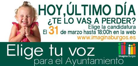 Photo of ÚLTIMO DÍA PARA VOTAR EN LAS PRIMARIAS ABIERTAS DE IMAGINA BURGOS