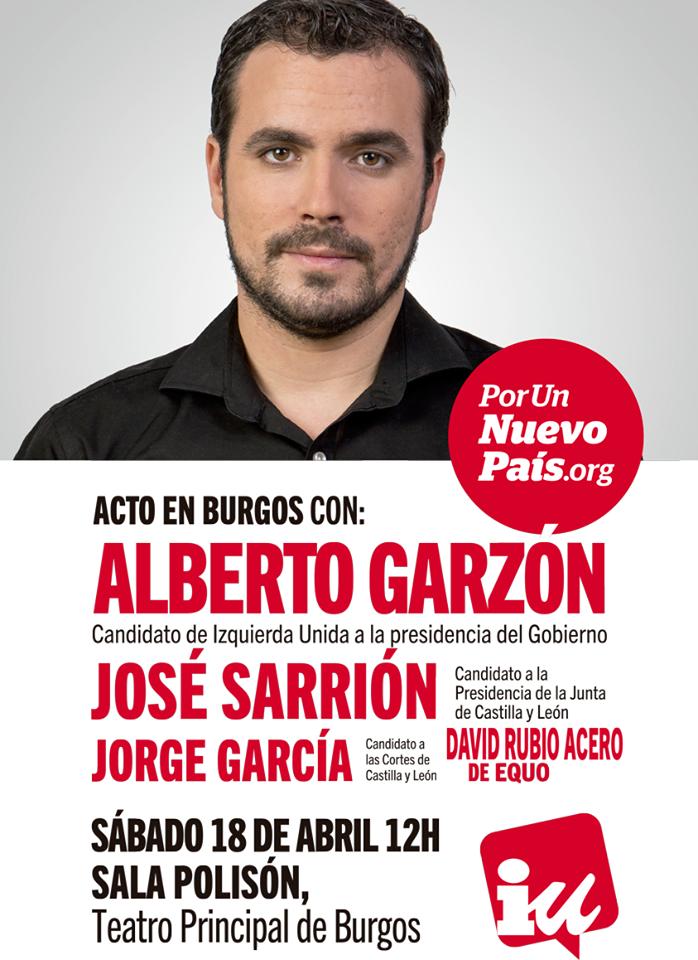 alberto garzón en Burgos