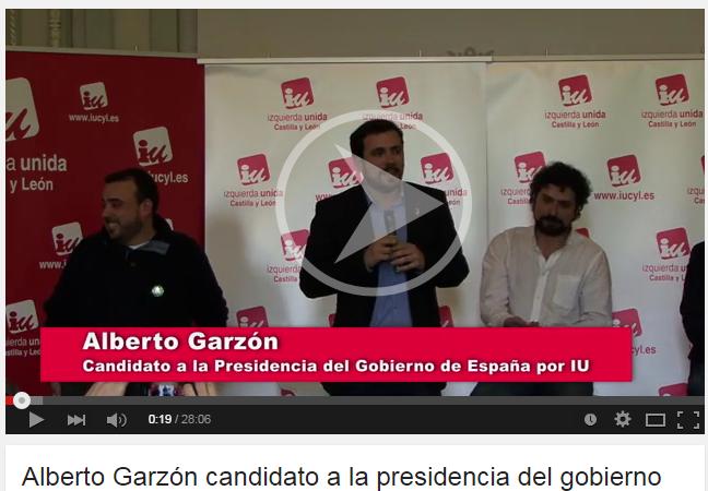 Photo of Acto del 18 de abril en la sala Polisón, Alberto Garzón Candidato a la Presidencia del Gobierno.