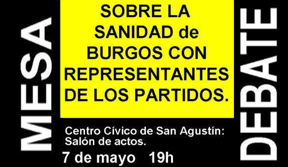 Photo of MESA‐DEBATE SOBRE LA SANIDAD 7 Mayo En C.Cvo San Agustín a 19:00.