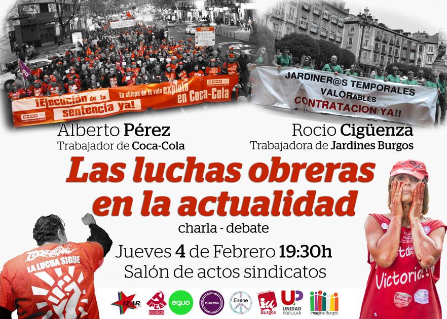 Photo of El Jueves, Charla-Debate: luchas obreras en la actualidad. Con trabajador@s de Coca-Cola y Jardines Burgos.