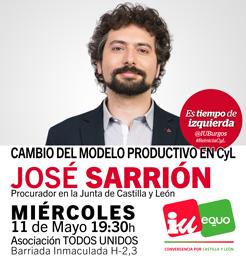 Photo of José Sarrión en Burgos, cambio del modelo productivo en Castilla y León