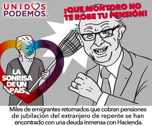 Photo of Unidos Podemos en la defensa de las pensiones. Frente al robo de tu pensión, hay solución.