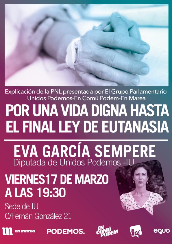 Photo of Eva García Sempere nos explica la PNL sobre la eutanasia presentada por el Grupo Confederal Unidos Podemos