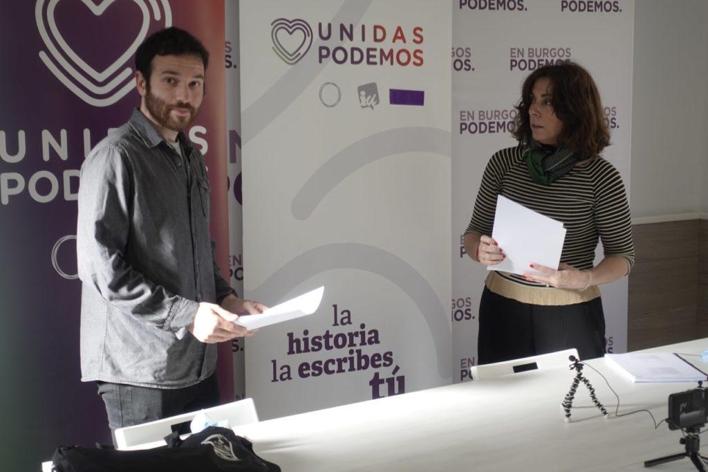 Jorge García Coordinador Provincial de IU y Marga Arroyo Portavoz Municipal de Podemos Burgos